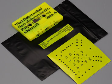 Fluorescent Yellow Limited Cassette + Sticker & Piece of Fabric From Original «Poems» Installation main photo