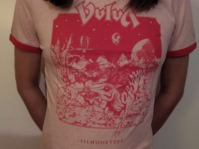 """Silhouettes""  Ringer Shirt Red/White main photo"