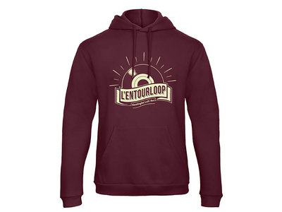 "L'Entourloop Hoodie ""vinyl"" burgundy UNISEX main photo"