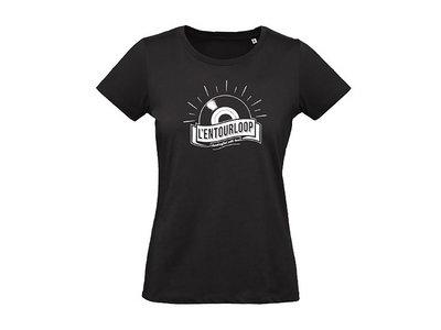 """L'Entourloop T-Shirt """"vinyl"""" Woman black main photo"""