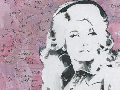 """Favorite Ladies"" original mixed-media painting main photo"