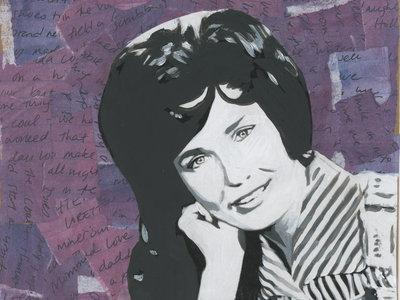 """Favorite Ladies"" original mixed-media portrait painting main photo"