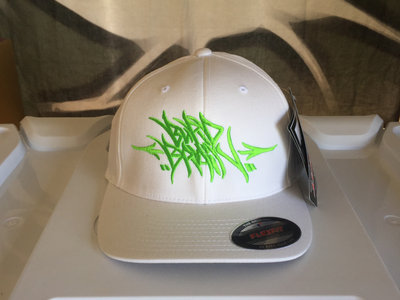 Radioactive Green / White Burd Brain Handstyles Flexfit (FREE POSTAGE) main photo