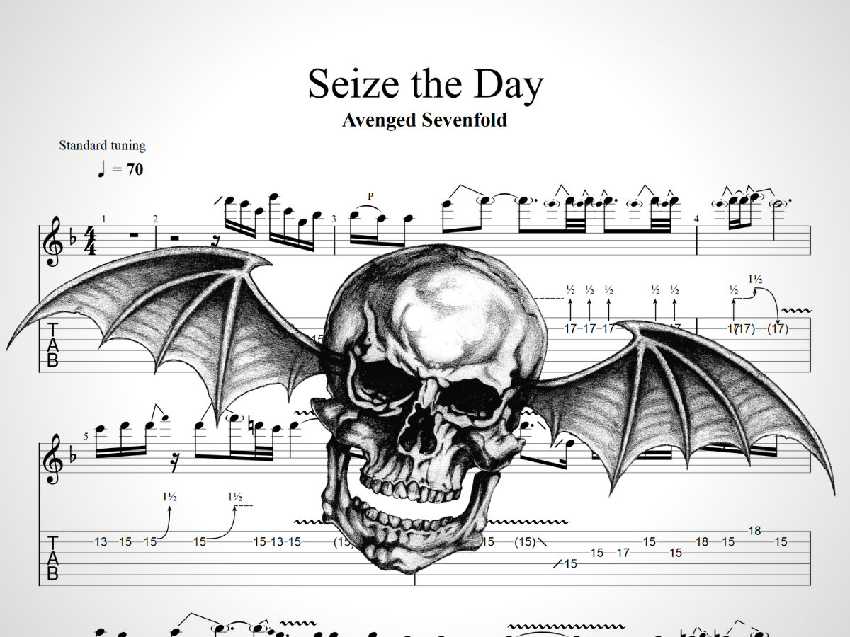 Avenged Sevenfold Seize A Day Solo Guitar Tab Music Sheet