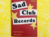 Limited Edition Sad Club Zine Pack photo