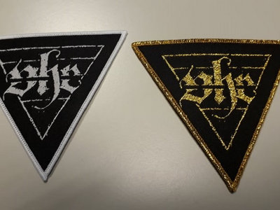 Triangle Patch white/gold main photo