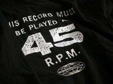 Hi-Vo Black 45 RPM T-shirt main photo