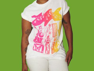 Pink to Yellow Gradient on White T Shirt main photo