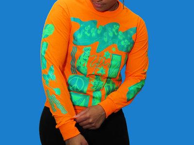Blue & Green on Fluo Orange Long Sleeve main photo