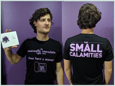"""emotionally unavailable"" t-shirt main photo"