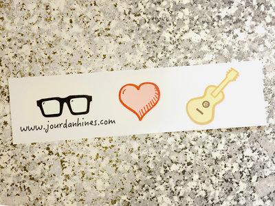 I Heart Guitar Bumper Sticker main photo