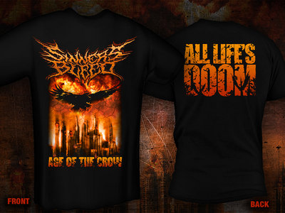 """pre-order: SINNERS BLEED """"Age Of The Crow"""" T-Shirt main photo"""