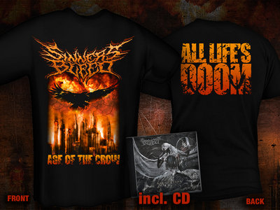 """pre-order: SINNERS BLEED """"Age Of The Crow"""" T-Shirt + CD Bundle main photo"""