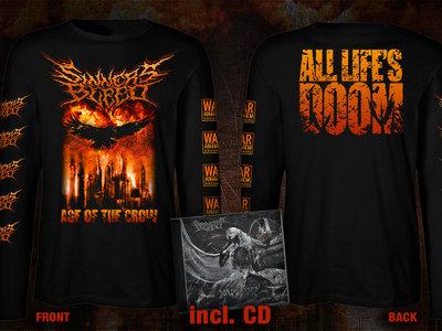 """pre-order: SINNERS BLEED """"Age Of The Crow"""" Longsleeve + CD Bundle main photo"""