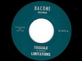 THE BLACK MAN SINGS / TROUBLE - THE LIMITATIONS photo
