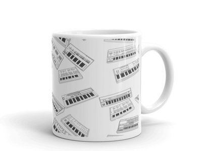 Classic Synth Machines Mug 12oz, Unique Coffee Mugs, Novelty Coffee Cup, Gift Idea main photo