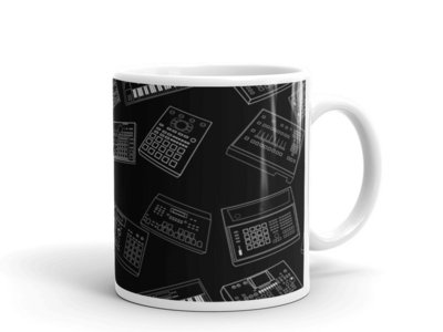 Classic Drum Machines Mug 12oz, Unique Coffee Mugs, Novelty Coffee Cup, Gift Idea main photo