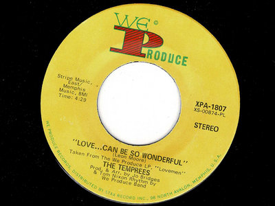 LOVE CAN BE SO WONDERFUL - THE TEMPREES - VG+ main photo