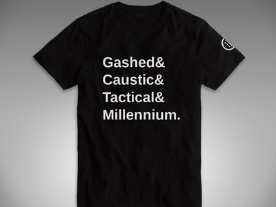 FRONT LINE ASSEMBLY: Gashed& Caustic& Tactical& Millennium SHIRT! main photo