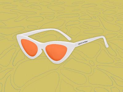 UV Sunglasses!! cat eye orange and white ;) main photo