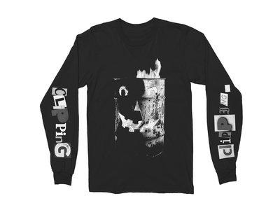 Trash Fire Long Sleeve Black w/White T-Shirt main photo