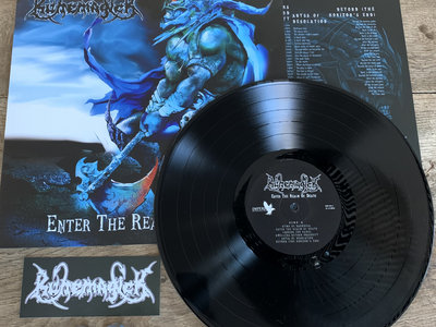 Enter The Realm Of Death - black vinyl with 2 pins/buttons and logo sticker main photo