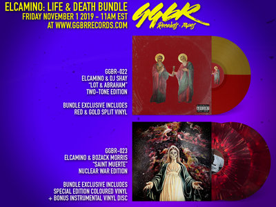 "Elcamino: Life & Death Bundle - ""Lot & Abraham"" + ""Saint Muerte"" *PREORDER: ESTIMATED SHIPPING DATE JANUARY 2020* main photo"
