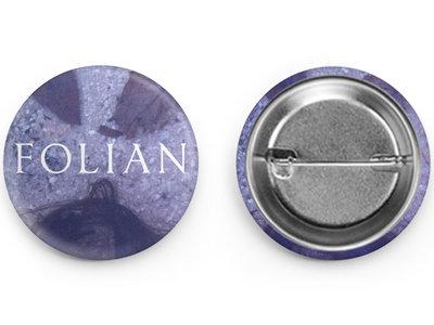 "Folian | Blue Mirror - 1"" Pin main photo"