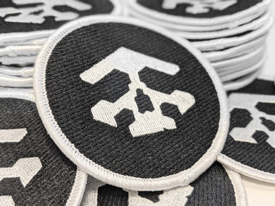 Bit Shifter embroidered patch • skull & ring emblem main photo