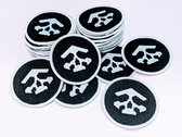 Bit Shifter embroidered patch • skull & ring emblem photo