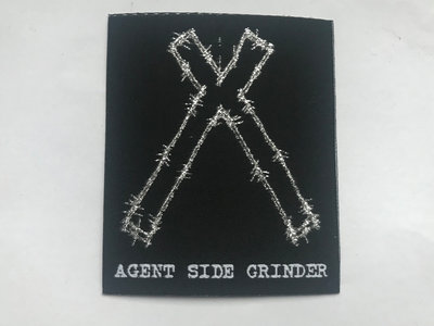 ASG embroidered patch silver/black/white main photo