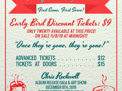 Early Bird Limited Pre-sale Ticket to 12/8 Album Gala main photo