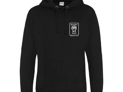 BLOODY FIST Bogan Black Hoodie - Original Logo (Front Logo & Back Text Print) main photo