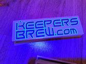 Keepers Brew UV Reactive Vinyl Sticker photo