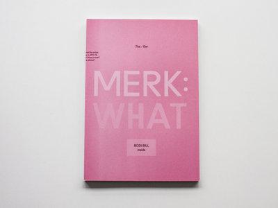 """""""MERK: WHAT"""" - Book main photo"""