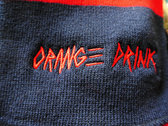 Orange Drink Embroidered Rugby Scarf photo