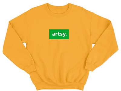 Artsy Orange Sweatshirt main photo