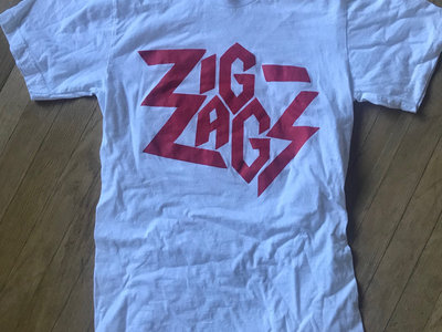 """Zig Zags Logo T-shirt"" Red on White main photo"