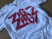 """Zig Zags Logo T-shirt"" Red on White photo"