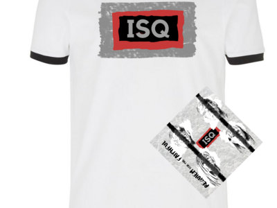 ISQ RFTF T-Shirt Bundle: 20% off White/Black Ringer T-Shirt plus CD main photo