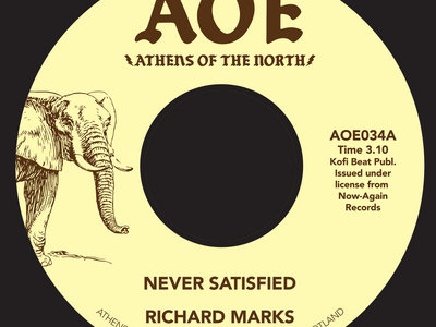 "Richard Marks - Never Satisfied [7"" Vinyl] **SALE** main photo"