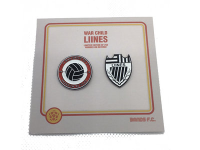 LIINES + War Child UK Bands FC enamel badges main photo