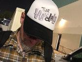 Trucker Hat Black & White Paul Frank Logo photo