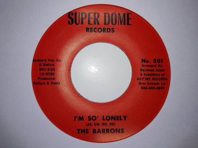 IM SO LONELY - THE BARRONS - NM main photo