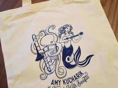 Octopus and mermaid Friends With Benefits logo tote main photo