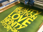 Beauty Emotion Love Infinity Distortion screen print photo