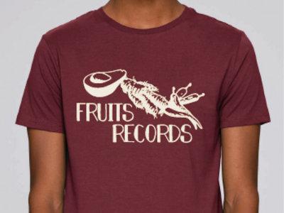 Fruits Records - Screen Print Burgundy T-Shirt main photo