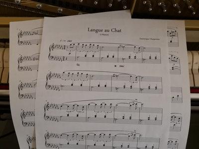 """Langue au Chat"" Piano Sheet main photo"
