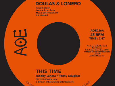 "Douglas & Lonero - This Time / Don't Let Yourself Get Carried Away (7"" Vinyl) main photo"