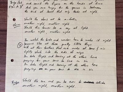 Hand Written Song Sheet main photo